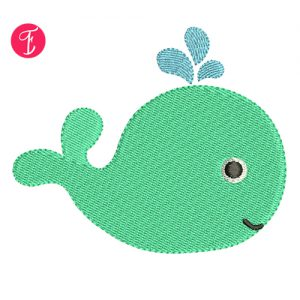 baby whale embroidery design