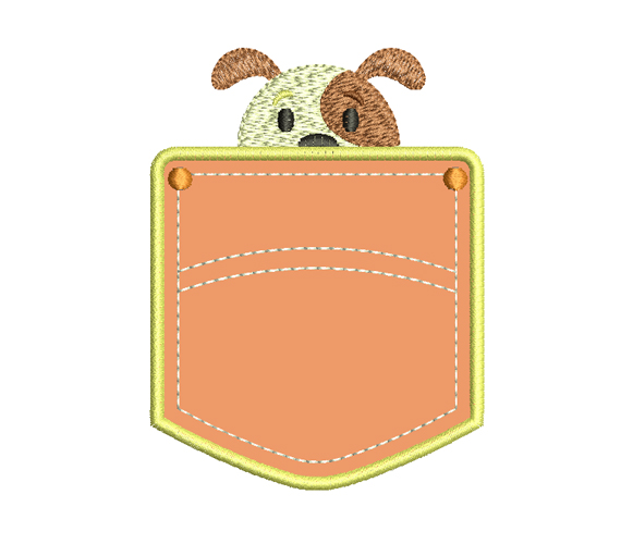 Pocket Dog Free Embroidery Design