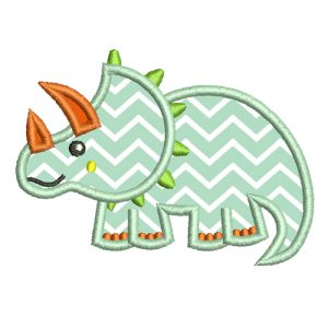 Triceratops applique embroidery design