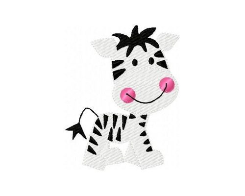 Embroidery Design Zebra Baby