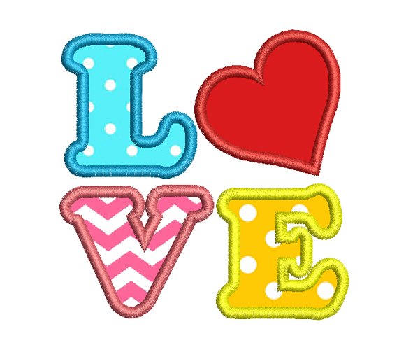 Heart Embroidery Design For Valentine Day