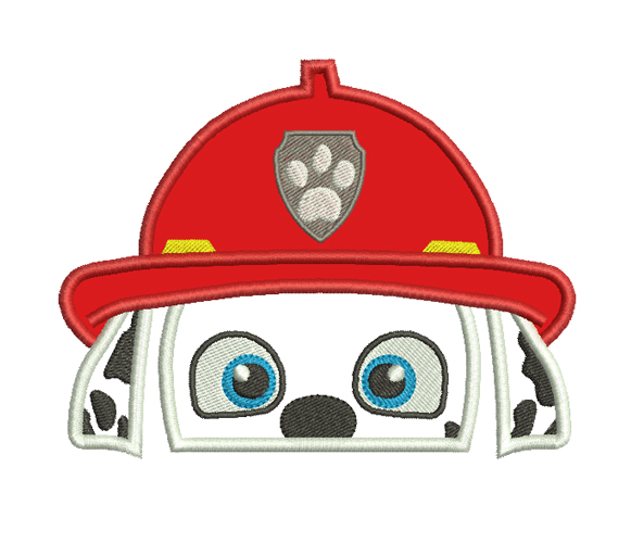 Marshall Paw Patrol Head Applique