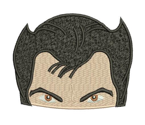 Wolverine head xmen free embroidery design
