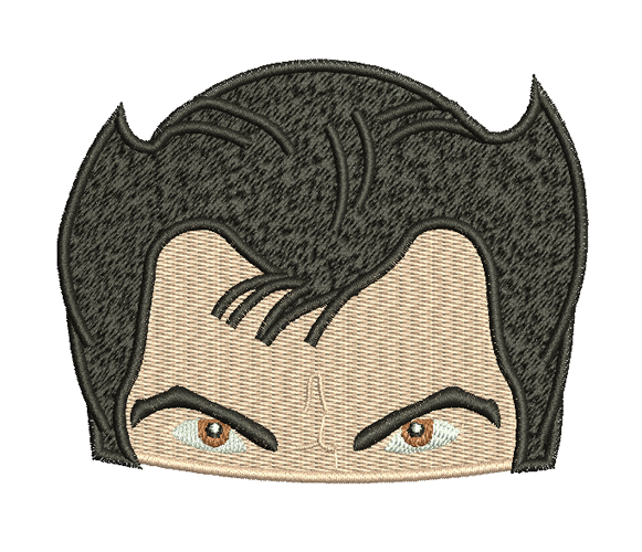 Wolverine head xmen free embroidery design
