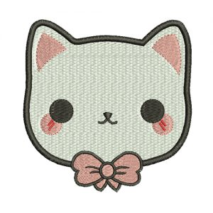 cute cat embroidery design