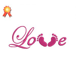 love feet free embroidery design