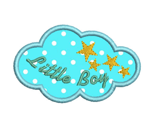 Cloud Embroidery Design - Baby boy embroidery design