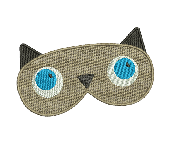 Cat Face Mask Machine Embroidery Design