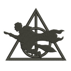 Harry Potter Silhouette Machine Embroidery Design