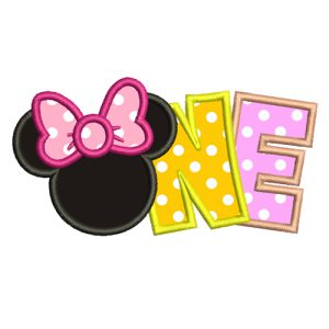 Minnie One Year Machine Embroidery Design