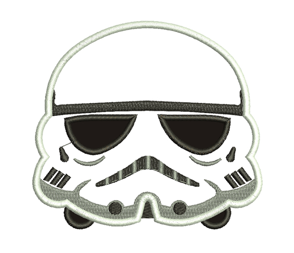 Storm Trooper Machine Embroidery Design