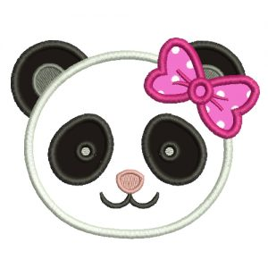 Panda Girl Machine Embroidery Design