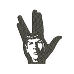Spock Star Trek Machine Embroidery Design