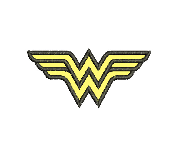 Wonder Woman Logo Machine Embroidery Design