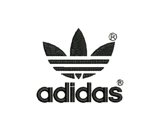 Adidas Logo Machine Embroidery Design