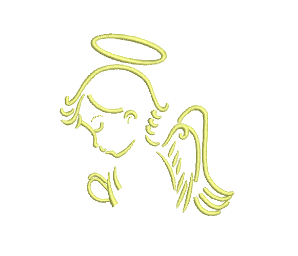Angel Outline Machine Embroidery Design