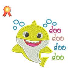 Baby Shark Doo Doo Doo Doo Machine Embroidery Design