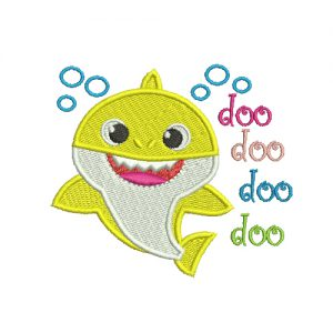 Baby Shark Doo Doo Doo Doo Machine Embroidery Design