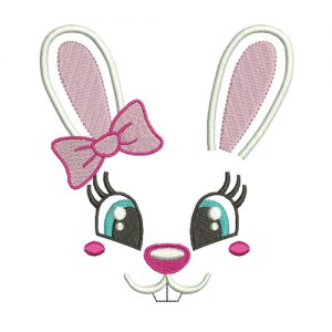 Bunny Girl Machine Embroidery Design