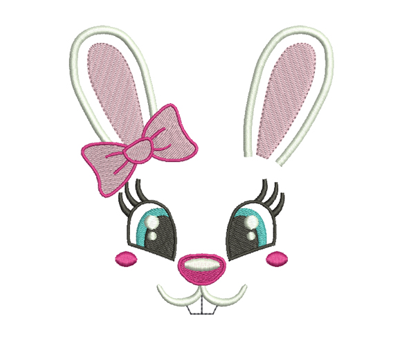 Bunny Girl Machine Embroidery Design