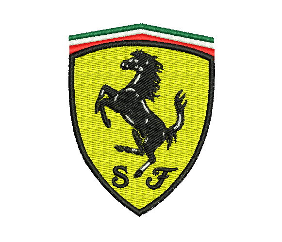 Ferrari Machine Embroidery Design