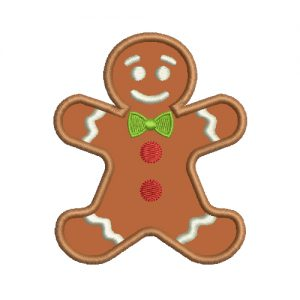 Gingerbread Man Machine Embroidery Design
