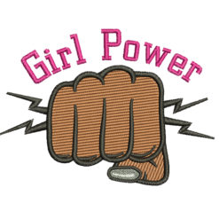 Girl Power Machine Embroidery Design
