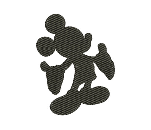 Mickey Mouse Silhouette Machine Embroidery Design