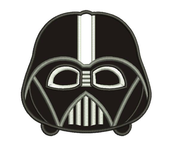 Mini Darth Vader Machine Embroidery Design