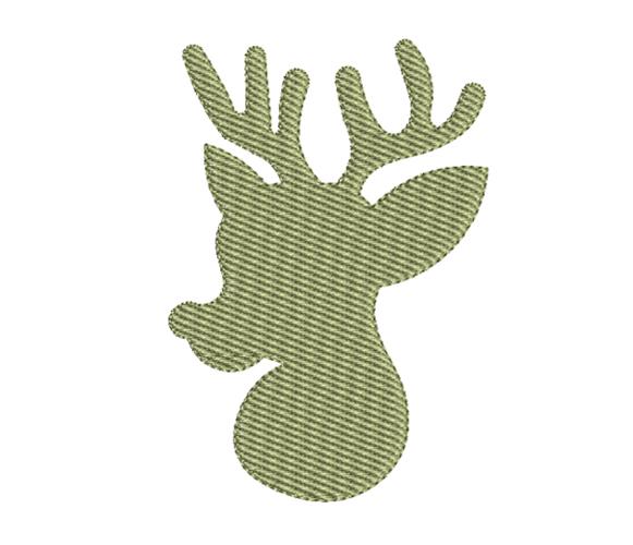 Reindeer Christmas Machine Embroidery Design