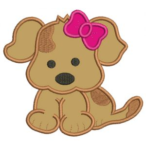 Baby Puppy Dog Machine Embroidery Design