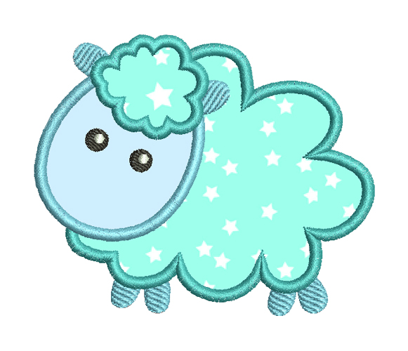 Cute little lamb Machine Embroidery Design