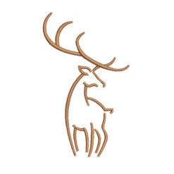 Deer Machine Embroidery Design