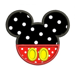 Mickey Mouse Applique Machine Embroidery Design