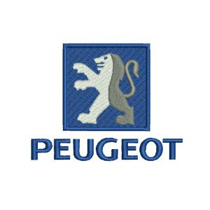 Peugeot Logo Machine Embroidery Design