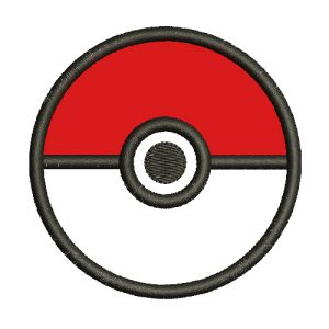 PokeBall Applique Machine Embroidery Design