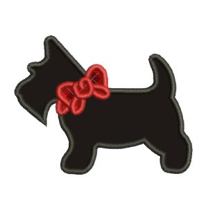 Scottie Dog Silhouette Machine Embroidery Design
