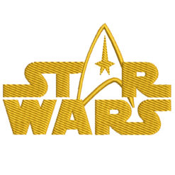 Star Wars Logo Machine Embroidery Design