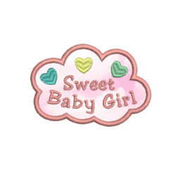 Sweet Baby Girl Machine Embroidery Design