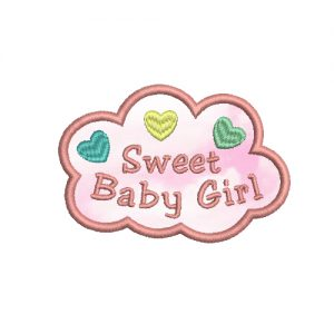 Sweet Baby Girl Machine Embroidery Design