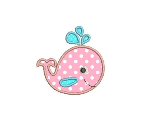 Applique Whale Baby Cute