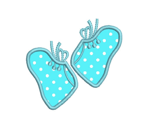 Baby Booties Applique Machine Embroidery Design