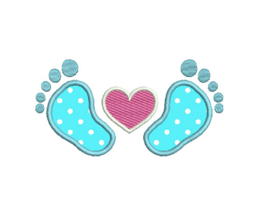 Baby Feet Applique