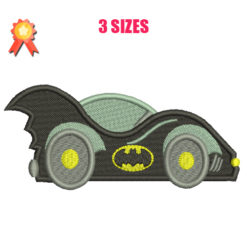 Batmobile Machine Embroidery Design