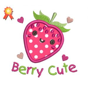 Berry Cute Machine Embroidery Design