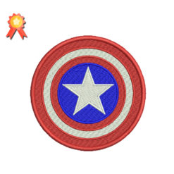 Captain America Shield Machine Embroidery Design