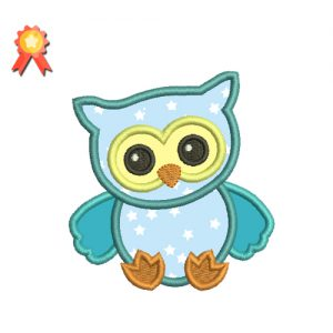 Cute Owl Machine Embroidery Design