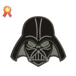 Dark Vader Header Machine Embroidery Design