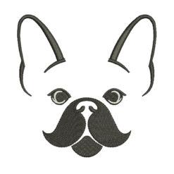 France Bulldog Machine Embroidery Design