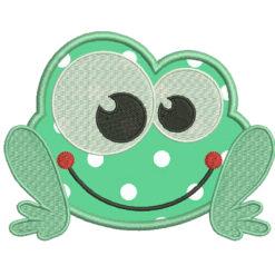 Frog Applique Machine Embroidery Design